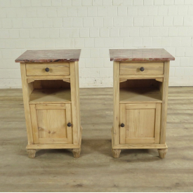 Set Nightstands Jugendstil 1910 Pine - 18170E