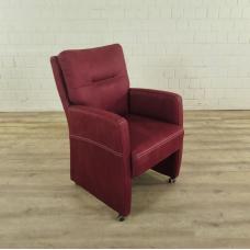 Stuhl / Sessel auf Rollen Rot