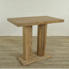 Standing table bar table Teak 1,10 m x 0,70 m