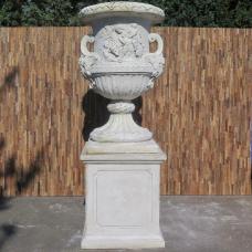 Vase Blumenkübel auf Sockel 2,27 m