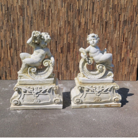 Set of stone Cherubs 1,15 m