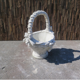 Vase Flower Basket Cast Stone 0.60 m - 18229