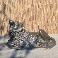 Skulptur Dekoration Löwe Bronze 1,80 m