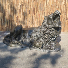 Skulptur Dekoration Löwe Bronze 1,70 m