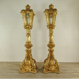 Set Laternen Barockstil Gold 2,60 m