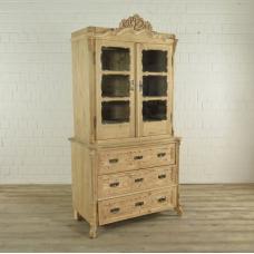 Cupboard book case Biedermeier style from 1850 Pinewood
