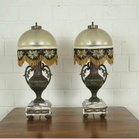 Set lamps bronze antique 0,60 m