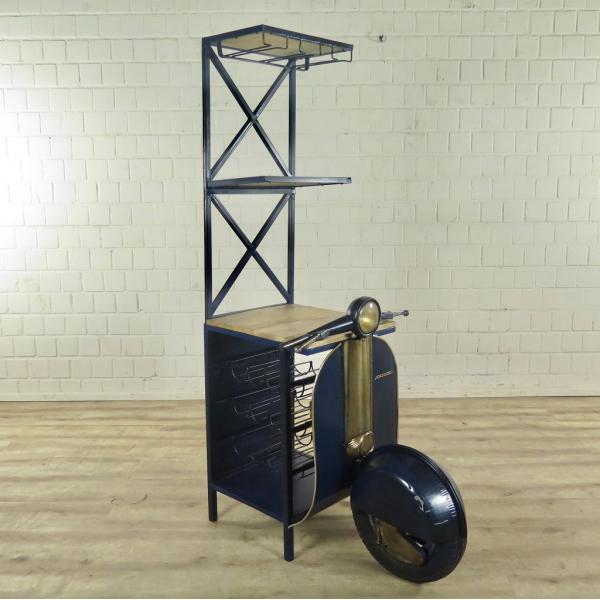 Minibar Weinregal Scooter 1,75 m - Blau