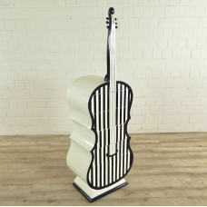 Chest of drawers black and white contrabass