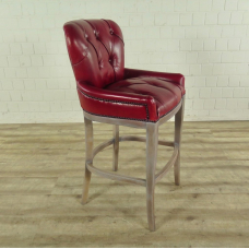 Chesterfield barstool red leather