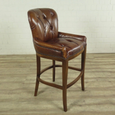 Chesterfield Barhocker Barsessel Leder Braun