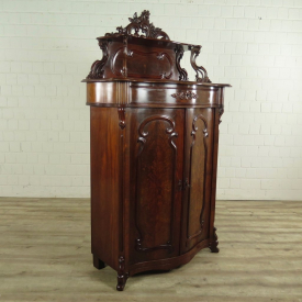 Closet Biedermeier with decoration - 1840 - Mahogany
