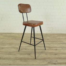 Bars stool Industrial Design Leather