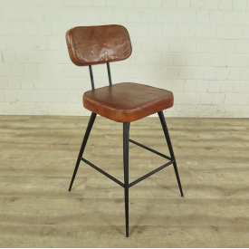 Dining chair Industrial Design Leather