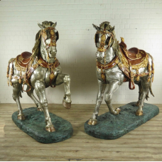 Skulptur Dekoration Set Pferde Bronze 2,10 m