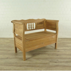 Bench with chest Teak 1,20 m
