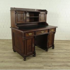Schreibtisch Gründerzeit 1880 Nussbaum