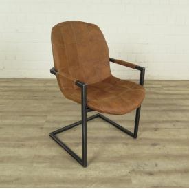 Stuhl Industrial Design Cognac