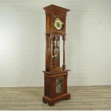 Standuhr-Spieluhr Polyphon Gründerzeit 1880 Mahagoni