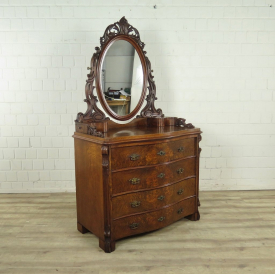 Make up table Louis Philippe 1860 Walnut wood