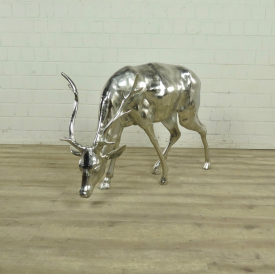 Statue Deer Chrome 1,20m