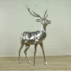 Statue Deer Chrome 1,05 m