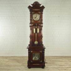 Standuhr-Spieluhr Lochmann Musik-Automat Gründerzeit 1880 Mahagoni