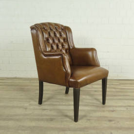 Dining chair leather cognac
