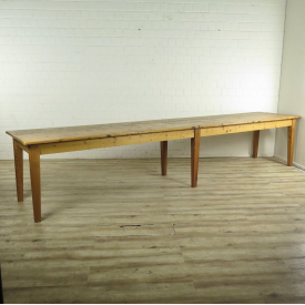 Dining table 4,00 m Pine wood