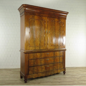 Wardrobe Biedermeier from 1820 Mahogany wood