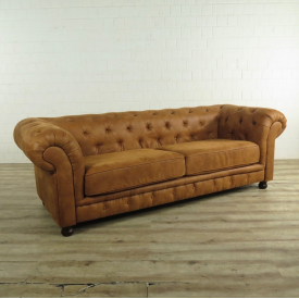 Chesterfield Sofa Couch Braun 2,35 m