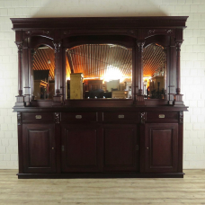 English Bar Back wall Mahogany 2,60 m