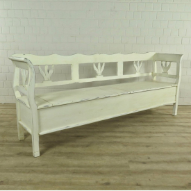 Storage bench Cream white 2,27 m