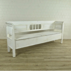 Storage bench cream white 2,18 m