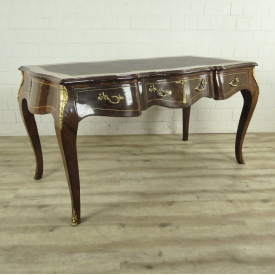 Desk Walnut wood Baroque style 1,56 m