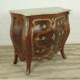 Chest of drawers Baroque style Walnut wood 1,00 m