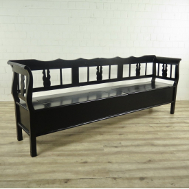 Storage bench black 2,46 m
