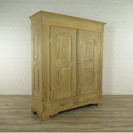 Wardrobe Biedermeier 1860 Pine wood