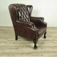 Chesterfield Sessel Dunkelbraun