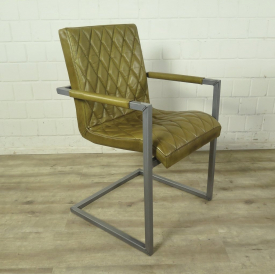 Chair Industrial Design Leather Lime