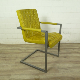 Chair Industrial Design Leather Yellow