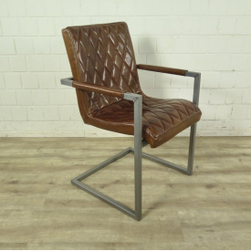 Chair Industrial Design Leather Camel