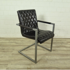 Chair Industrial Design Leather Black