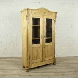 Bookcase Showcase Jugendstil 1910 Pine