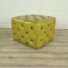 Hocker Chesterfield Gelb 0,64 m