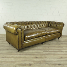 Chesterfield Sofa Couch Leder Lime 2.40 m