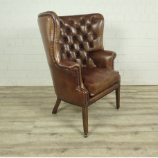 Chesterfield Sessel Camel