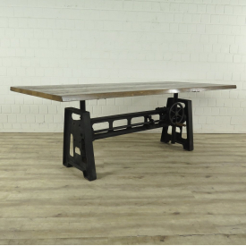 Dining table adjustable Oak wood 2,20 m x 1,02 m