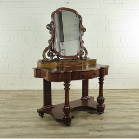 Make up table Jugendstil 1900 Walnut wood