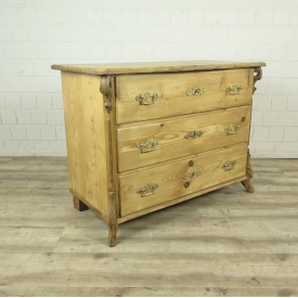 Chest of drawers Louis Philippe 1870 Pine wood